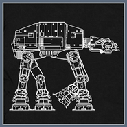 At At Technical Design T Shirt Star Wars Graphic Tee