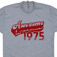 Awesome Since 1975 T Shirt 40th Birthday T Shirt Funny Birthday Shirt