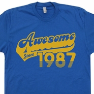 Awesome Since 1987 T Shirts Born In Made 30th Birthday Tee