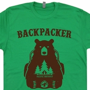 Backpacker Bear T Shirt Pacific Crest Trail Shirt Appalachian Trail T Shirt