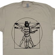 Banjo T Shirt Da Vinci Man Bluegrass Shirts Vintage Folk Rock Bonaroo Shirts
