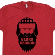 It's Beard Season T Shirt Funny Lumberjack T Shirts Humor Moustache Tees
