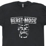 Beast Mode T Shirt Sports Gym Gorilla Ironman Triathlon Marathon Tees