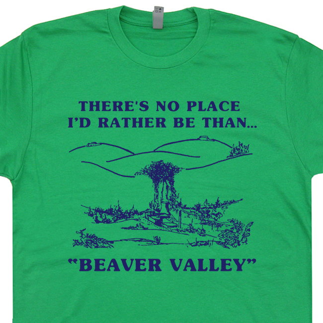 Beaver Valley Funny T Shirt Saying Humor Sexual Offensive Tee