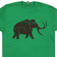 Big Wooly Mammoth T Shirt Vintage Dinosaur Elephant Cool Graphic Tees