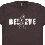 Bigfoot Believe T Shirts Funny Sasquatch Tees Vintage Shirts