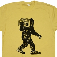Bigfoot Ghetto Blaster T Shirt Vintage 80s Stereo T Shirt