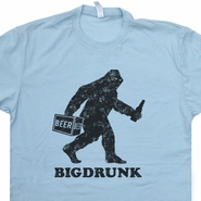 Bigfoot T Shirt Bigdrunk Sasquatch Yeti Funny Beer Tee