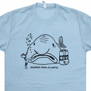 Blobfish T Shirt Beer Bar Pub Tee Likes To Party Funny Shirts