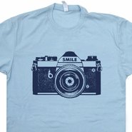 Camera T Shirt Photographer Photography Shirts Polaroid 80s Tees
