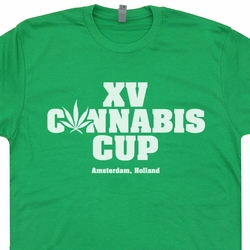 Cannabis Cup Marijuana T SHIRT Amsterdam Cheech and Chong Doug Benson Shirts
