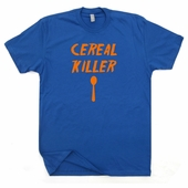 Cereal Killer T Shirt Funny Breakfast T Shirt Saying Retro bacon Tee Shirts