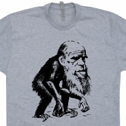 Charles Darwin Monkey T Shirts Funny Evolution Tees Science Biology Geek shirts