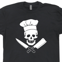Chef T Shirts Grill Master Sergeant Apron Hat Skull and Bones Tees