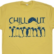 Penguins Chill Out T Shirts Funny Vintage Shirts Mens Womens Retro Tee Shirts