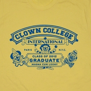 Clown College Graduate T Shirt Funny Vintage Circus Clown T Shirt