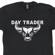 Day Trader T Shirt Trading Stock Market Shirts Wall Street Greed is Good