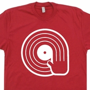 DJ T Shirt Vintage Club Shirts Record Player Technics Turntable Tee Shirts