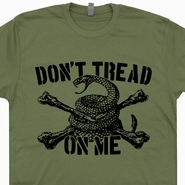 Don't Tread On Me T Shirt Marines Flag T Shirts Vintage Military Shirts