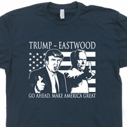 Donald Trump 2016 T Shirt Clint Eastwood Make America Great Again Tee