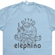 Elephino T Shirt Elephant Rhino (Hell If I Know) Funny Retro Rhinoceros Tees