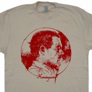 Ernest Hemingway T Shirt Vintage Literature Shirts Old man and the Sea