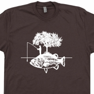 Fishing T Shirt Funny Fisherman Hunting Shirts Retro I'd Rather Be Tees