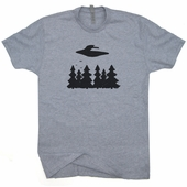 Flying Saucer T Shirt Vintage UFO I want To Believe X-Files Aliens Tee