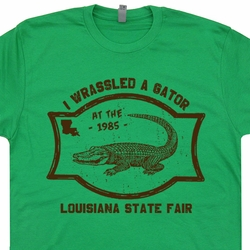 Alligator Wrestling T Shirts Gators Funny Vintage WWF WWE T Shirts