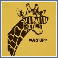 Giraffe T Shirt What's Up Was' Funny Tee Shirt