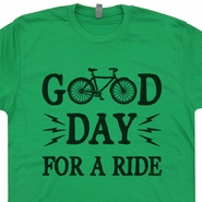 Good day For A Ride Bicycle T Shirt Funny Vintage Bike T Shirt