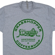 Grasshopper Marijuana Cafe T Shirts Amsterdam Grateful Dead  Phish Shirts