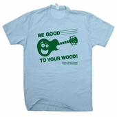 Guitar Center T Shirt Be Good To Your Wood Vintage Gibson Fender Taylor Guitar