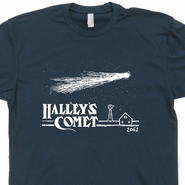 Halley's Comet T Shirt Vintage Retro Asteroids Nasa Astronomy Tee