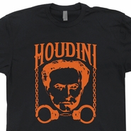 Harry Houdini T Shirt Vintage Cool Retro Shirts Magician Tees Magic Shirts
