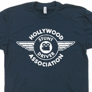 Hollywood Stunt Driver T Shirt Vintage Stuntman Stunt Driving Shirts