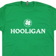 Hooligan T Shirt Irish Beer Shirts Ireland Soccer Rugby Shirts