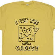 I Cut The Cheese T Shirt Funny Fart T Shirt Who Cut One I Just Farted Tee