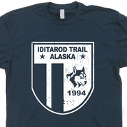Iditarod Trail Race T Shirt Alaska Sled Dog Racing Shirts Husky Dog Shirts