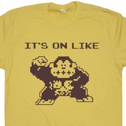 It's On Like Donkey Kong T Shirt Funny Vintage Gamer Tee Shirts Atari Games Tees