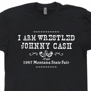Johnny Cash Vintage T Shirt Outlaw Country Music Rock Shirts Wrestling