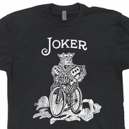 Joker Bicycle Cards T Shirt Vintage World Series of Poker Tees Texas Hold em