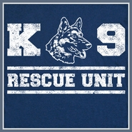 K9 Rescue Dog T Shirt German Shepherd Fireman police Tee