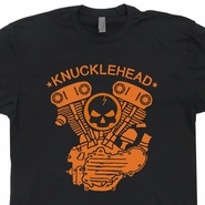 Knucklehead Engine T Shirt Vintage Harley Davidson Motorcycle Tee Shirts