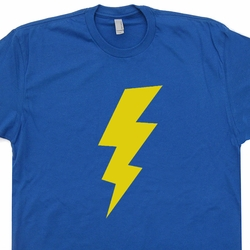 Vintage Lightening Bolt T Shirt Flash Bazinga T Shirts Funny Geek Tees