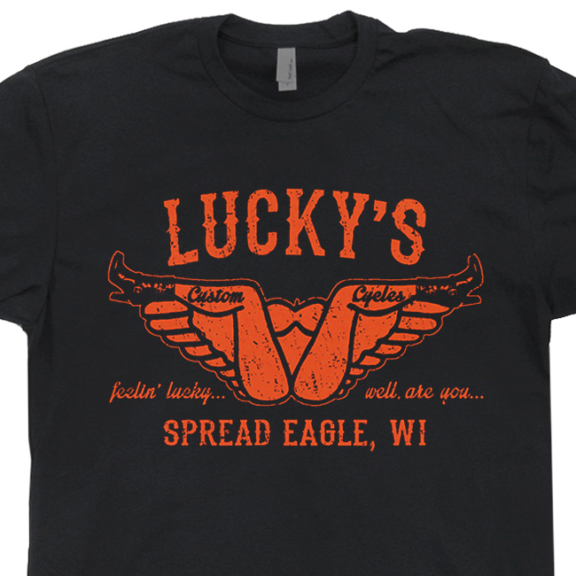 Lucky's Custom Cycles T Shirt | Vintage Harley Davidson T Shirts