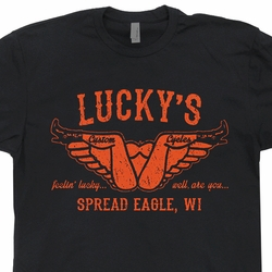 Lucky's Custom Motorcycles T Shirt Vintage Harley Davidson Tee Shirts Honda Goldwing