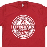 Maui Hawaii Lifeguard T Shirt Vintage Surfing Surf T Shirts Cool Mens Womens Shirts