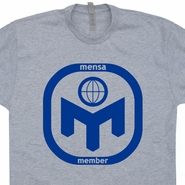 Mensa Real Genius T Shirt Science Geek Nerd Computer Tee