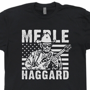 Merle Haggard T Shirt Vintage Country Rock Shirts Rockabilly Tee
